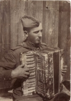 soldier with accordion